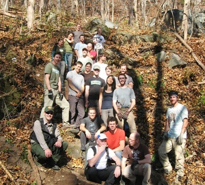 Climbers, hikers and park friends gathered for the trail workday.