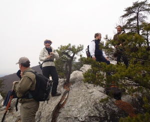 Hikers at Hanging Rock State Park took on the 'Five Overlooks Challenge.'