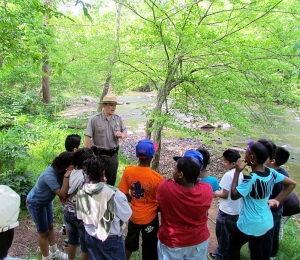 A pilot project brought fifth graders from Durham to Eno River State Park last spring.