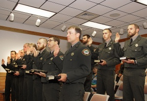 Ten rangers are sworn as law enforcement officers.