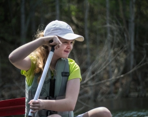 Watching for birds and wildlife is part of a 'canoe hike'.