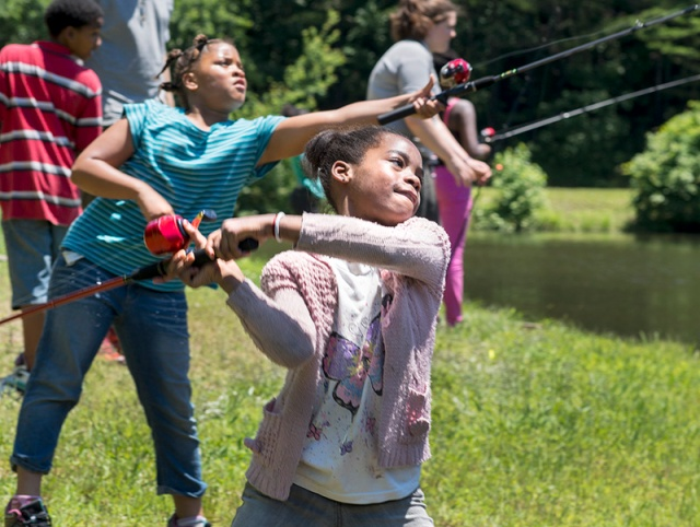 The Sierra Club brought a group of youngsters from Raleigh to learn outdoor skills at Haw River State Park.
