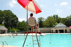 Free swimming for a day in the CCC-built pool is being offered to the community