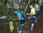 Hikers check in at a station during Hanging Rock's 'Reach the Peaks' event.