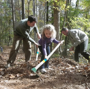 Designated volunteer days allow concentrated effort on new trails.