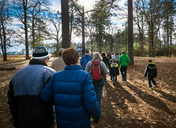 Carvers Creek State Park held its first-ever event with 71 hikers.
