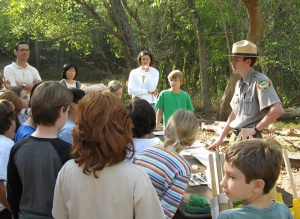North Carolina park rangers are certified environmental educators.