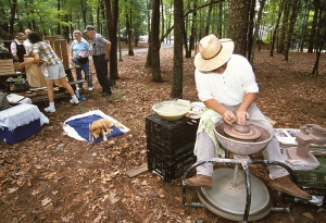 Old Fashion Day at the state park features traditional crafts.
