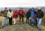 Hikers at Elk Knob weathered a severe wind chill.