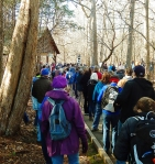 Eno River's historic New Year's event drew 702 people.