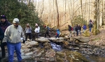 Stream crossing at Grandfather Mountain State Park.