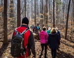 Hikers meander across an undeveloped tract at Haw River State Park