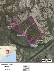 Property to be acquired lies northwest of the mainland area of the state park.
