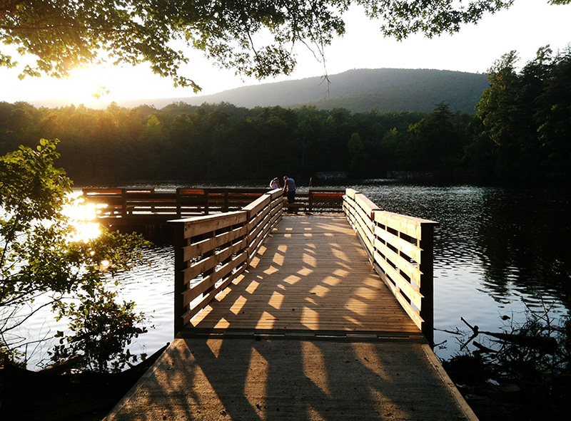 Rainbow trout introduced at hanging rock state park lake for Fish rock rentals