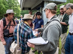 State parks biologist Ed Corey, center right, began organizing the bioblitz events in 2013.