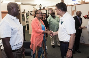 Gov. McCrory meets with Harriet Hurst Turner and other members of the Hurst family.