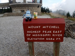 Kelvin visits the summit of Mount Mitchell.