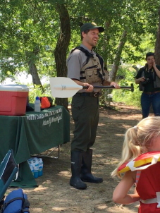 Interpretation and Education Manager Sean Higgins shares safety tips for paddling and explains the educational value of getting visitors out on the water.