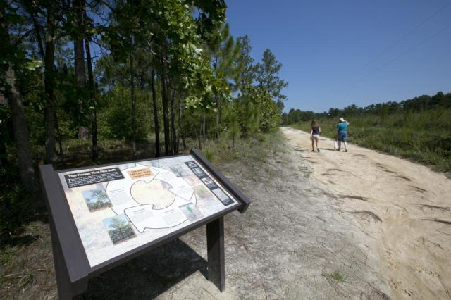 CACR Fire info panel and trail