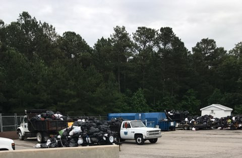 Trash at JORD after Jul 4